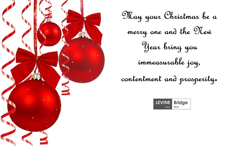 Team of LEVINE Bridge Wish You a Merry Christmas and a Happy New Year!